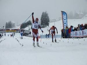 La vittoria di Erica Antoniol (Fiamme Oro) nella sprint Juniores