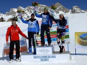 finali ascotrade - podio superg allieve 13 marzo 2015