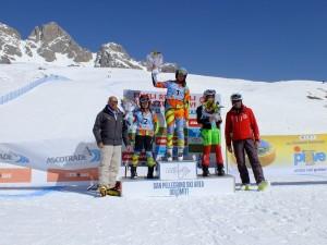finali ascotrade - podio superg ragazze 13032015
