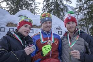 inseguimento camp ita assoluto 12 feb 2017 - il podio maschile