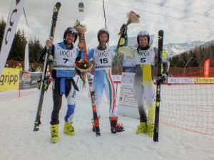 campionati italiani assoluti sci alpino - podio gigante maschile 1 26.03.2017 alpe lusia