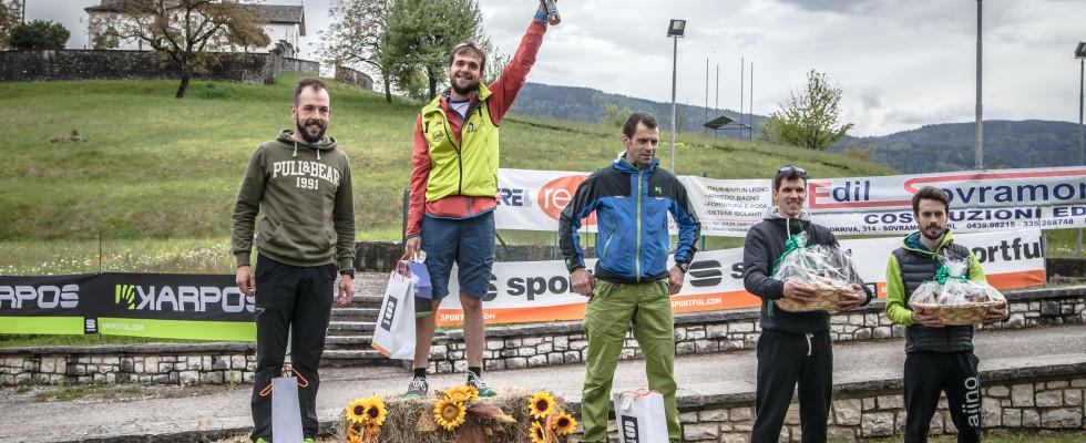 trail sovramontino 2017 - podio maschile 18 km