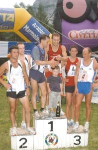 TRANSCIVETTA 2005 - don franco torresani e claudio cassi vincitori con record 2h05'46 - FOTO CIOEN FELTRE