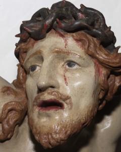 volto crocifisso ligneo del XVII secolo - chiesa parrocchiale chies d'alpago -autore ignoto