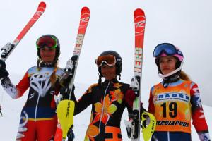 29.03.2018 - tricolori children podio slalom Ragazze