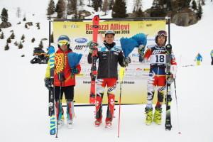 tricolori children - podio allievi slalom 26.03.2018