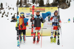 tricolori children - podio allievi slalom 26.03.2018