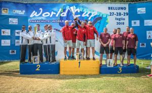 trofeo città di belluno 29.07.2018 - podio team maschile