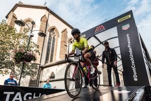 HR DOLOMITES 2018 - una partenza della crono Predazzo - Pampeago 23.09.2018