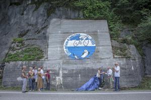 murale giro del lago 10 agosto 2019