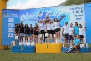 podio team donne - 30. trofeo città di belluno