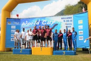 podio team uomini - 30. trofeo città di belluno