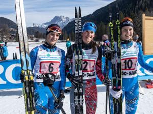©Ticomunicazione - Campionati italiani sci di fondo Falcade PODIO ASPIRANTI F