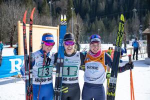 ©Ticomunicazione - Campionati italiani sci di fondo Falcade PODIO JUNIORES F