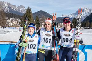 ©Ticomunicazione - Campionati italiani sci di fondo Falcade PODIO SENIORES F