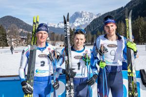 ©Ticomunicazione - Campionati italiani sci di fondo Falcade PODIO SENIORES M